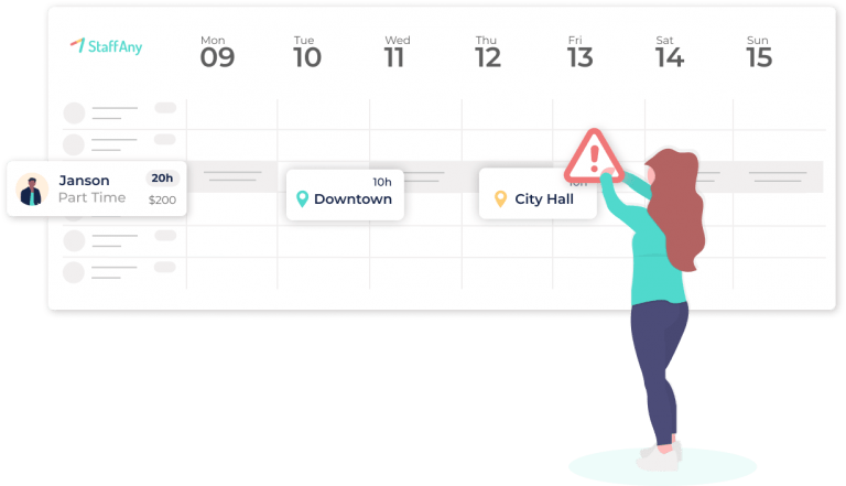 Employee Scheduling System Singapore, Feature – Scheduling