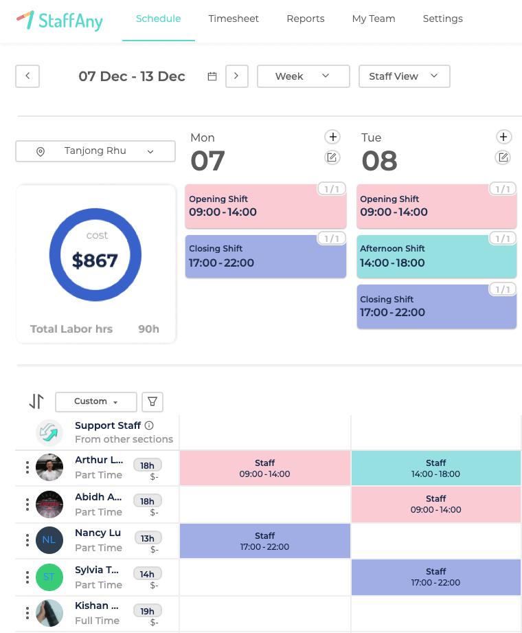 Scheduling, Ads Landing Page – Scheduling