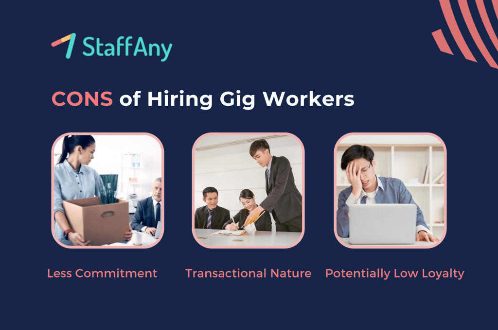 cons of hiring gig workers