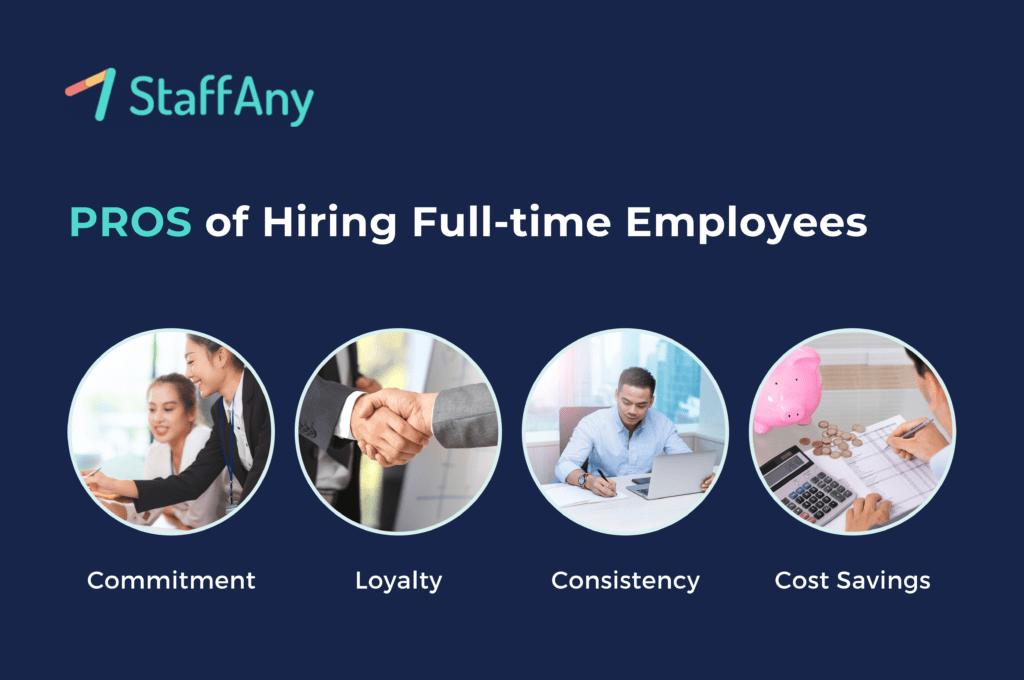 pros of hiring full-time employees